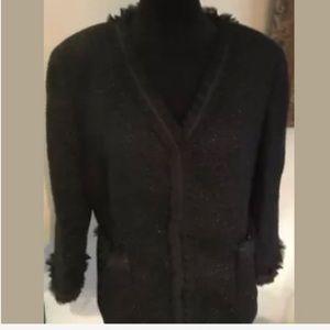 Talbots Wool Blend Tweed Jacket- size 14